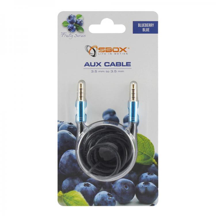 SBOX 3535-1,5BL, Kábel 3,5mm jack/jack 1,5m blu