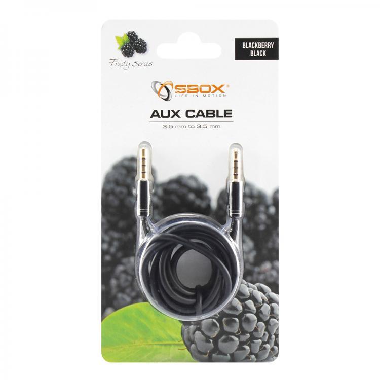 SBOX 3535-1,5B, Kábel 3,5mm jack/jack 1,5m blk