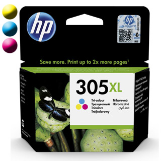HP 305XL, Cartridnge, 3YM63AE CMY