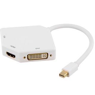 DELTACO Mini DisplayPort na HDMI/VGA/DVI