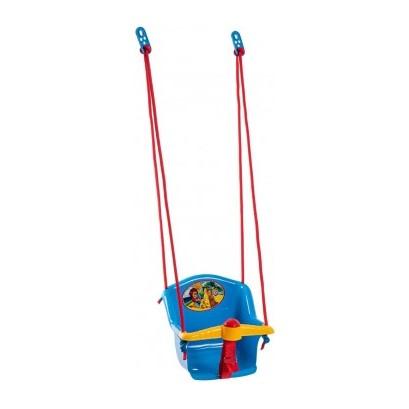 TEDDIES Hojdačka Baby s pískátkem plast modrá