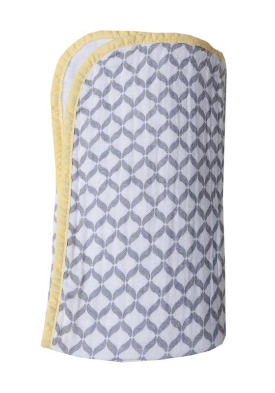 MOTHERHOOD Deka bavlnená mušelínová dvojvrstvová Pre-Washed Grey Classics 95x110 cm