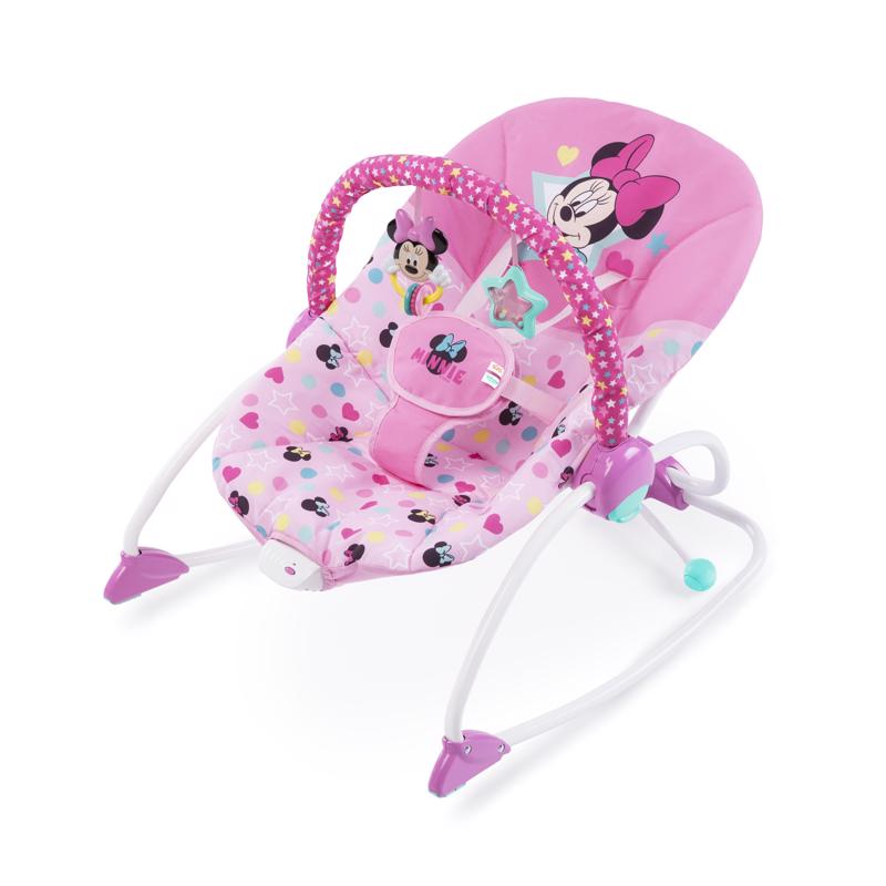 DISNEY BABY  Húpatko vibrujúce Minnie Mouse Stars  Smiles Baby 0m do 18kg 2019