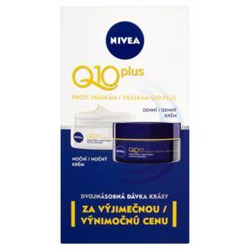 NIVEA Q10 plus krémy proti vráskam denný a nočný 50 ml + 50 ml