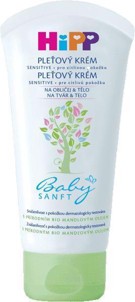 HiPP Babysanft Krém na tvár a telo 75 ml