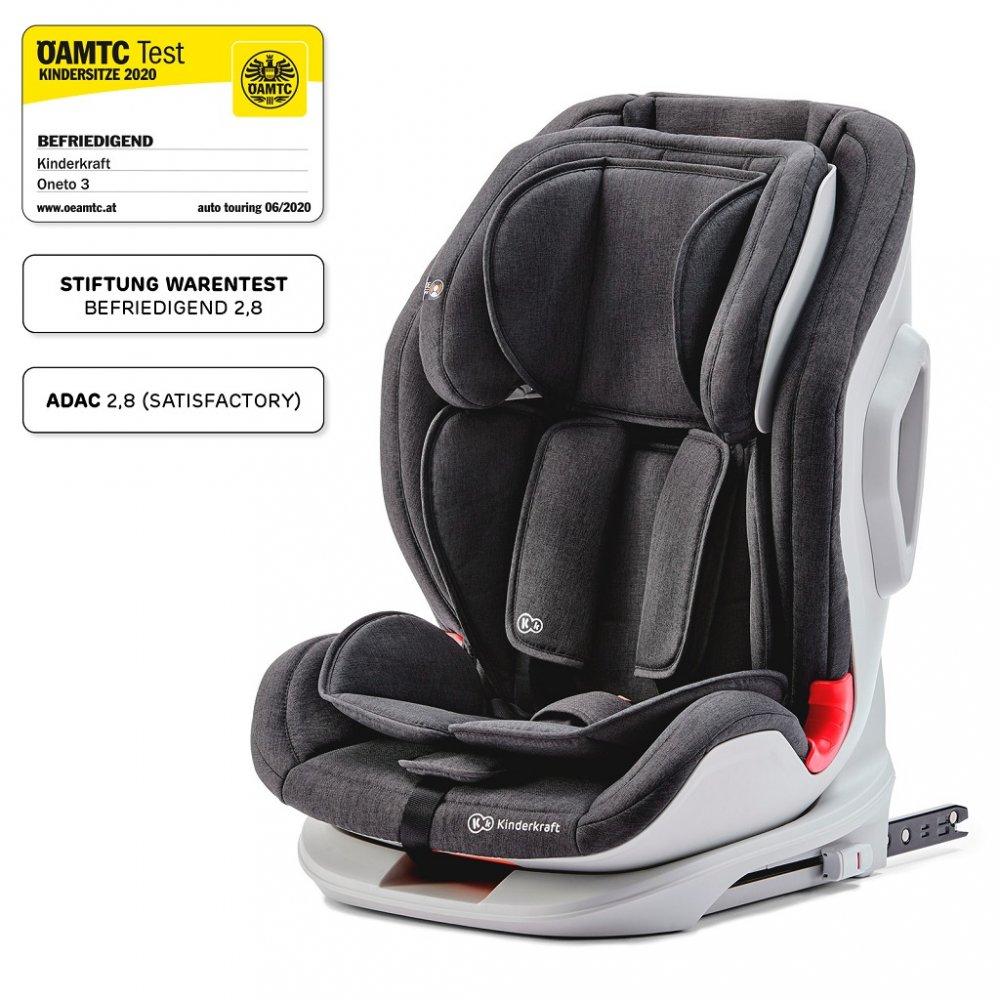 KINDERKRAFT Autosedačka Oneto3 Isofix Black 9-36 kg