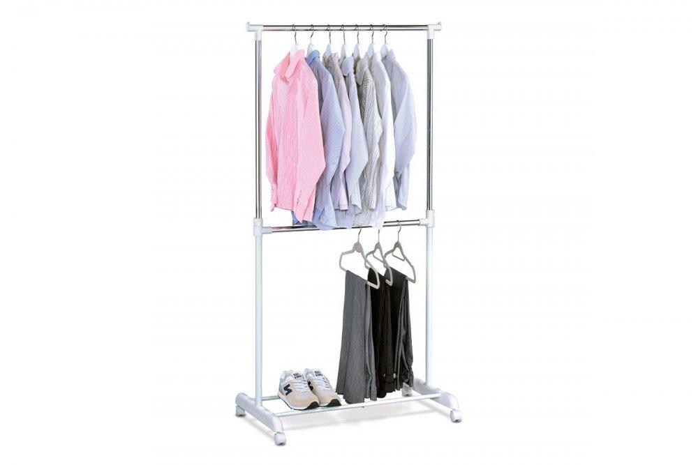 AUTRONIC ABD-1213 WT stojan na šaty, biely plast/chrom