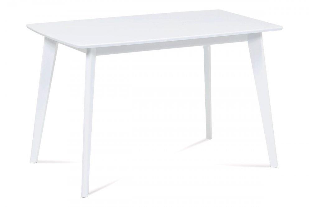 AUTRONIC AUT-008 WT jedálenský stôl 120x75cm, nohy masív, doska MDF, biely