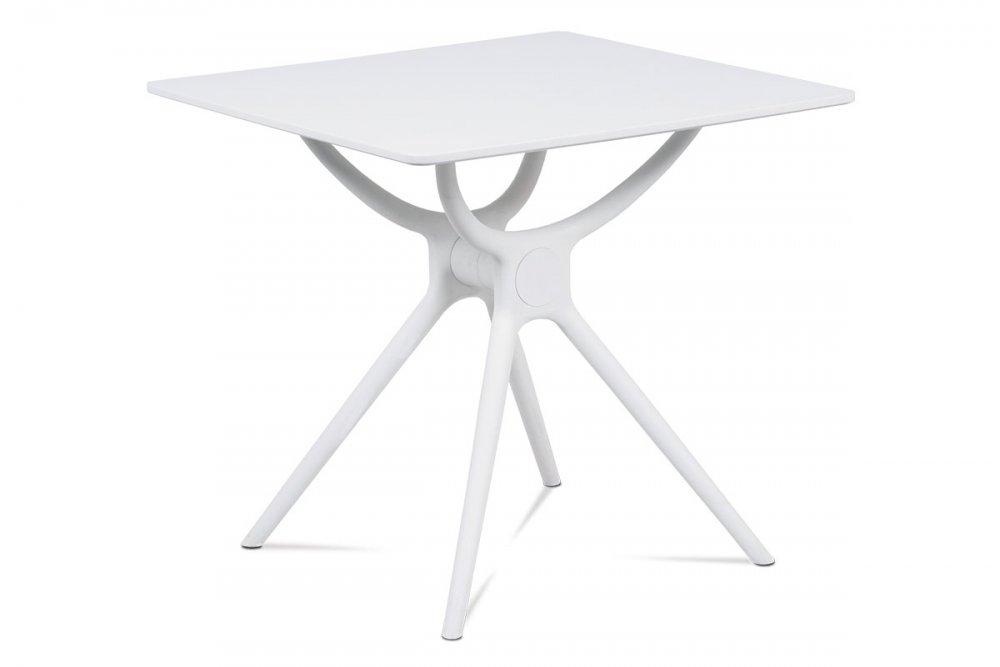 AUTRONIC DT-751 WT jedálenský stôl 80x80, biela MDF, plast biely