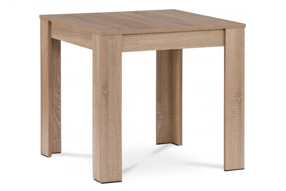 AUTRONIC DT-P080 SON Jedálenský stôl 80x80x74 cm, MDF, lamino 3D dekor dub sonoma