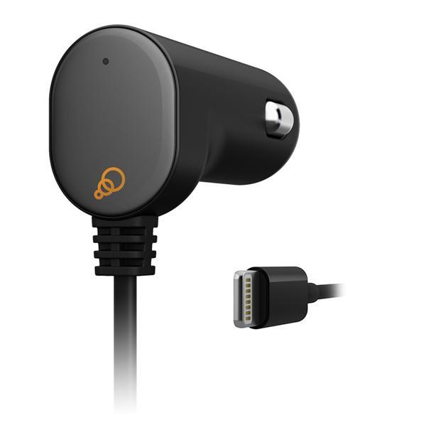Cygnett FlashPower II Car Charger, 2.1A autonabíjačka pre iPhone, iPad fix kábel s lightning konektorom, MFi schválený