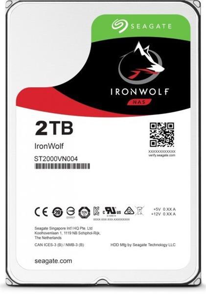 Seagate IronWolf NAS HDD 2TB 5900RPM 64MB SATA III 6Gbit/s