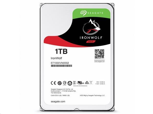 Seagate IronWolf NAS HDD 1TB 5900RPM 64MB SATA III 6Gbit/s