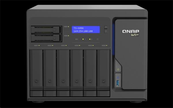 QNAP™ TS-h886-D1622-16G 8 Bay NAS Xeon® D-1622 16GB 4x 2,5GbE tower