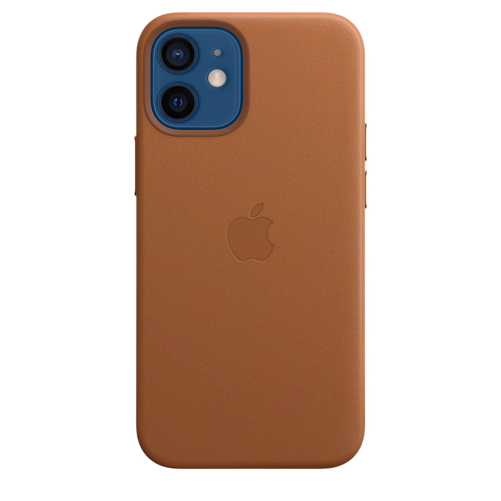 iPhone 12 mini Leather Case with MagSafe S.Brown