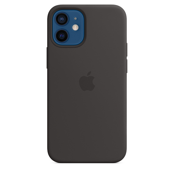 iPhone 12 mini Silicone Case with MagSafe Black/SK