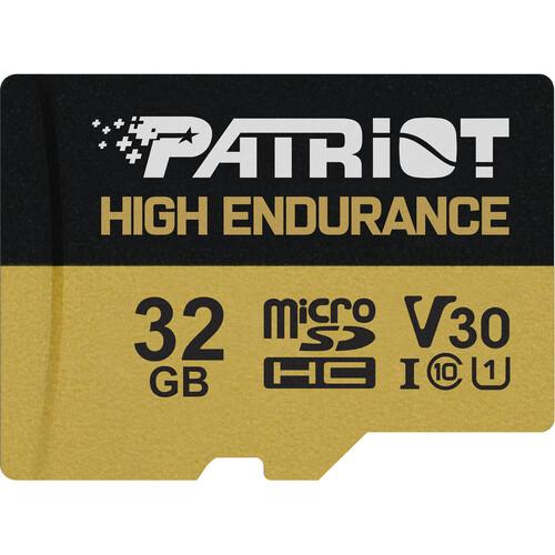 32GB microSDHC Patriot High Endurance V30 U3 až 95MB/s