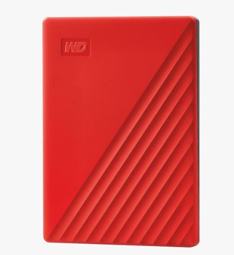 Ext. HDD 2,5'' WD My Passport 2TB USB 3.0. červený