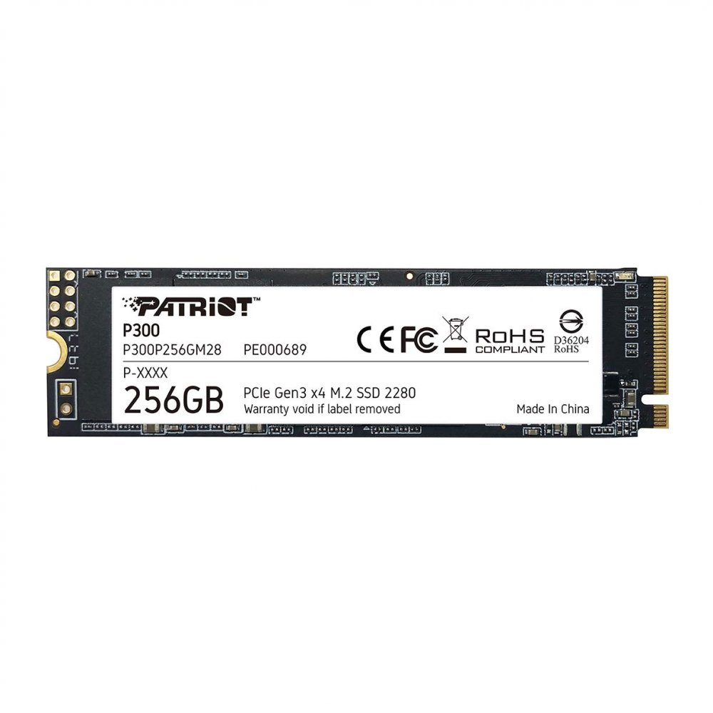 SSD 256GB PATRIOT P300 M2 2280 PCIe NVMe