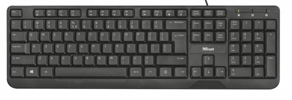 klávesnice TRUST Ziva Multimedia Keyboard CZ/SK