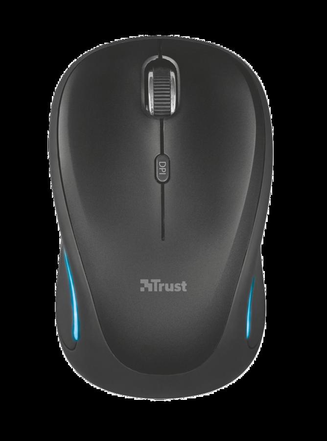 myš TRUST Yvi FX Wireless Mouse - black