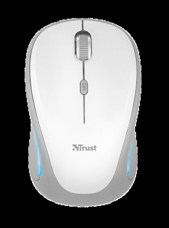 myš TRUST Yvi FX Wireless Mouse - white