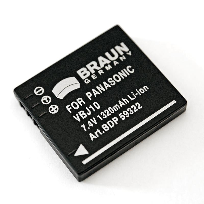 Braun akumulátor PANASONIC BCE10, VBJ10, S008, Leica BP-DC6, Ricoh DB-70, 1320mAh