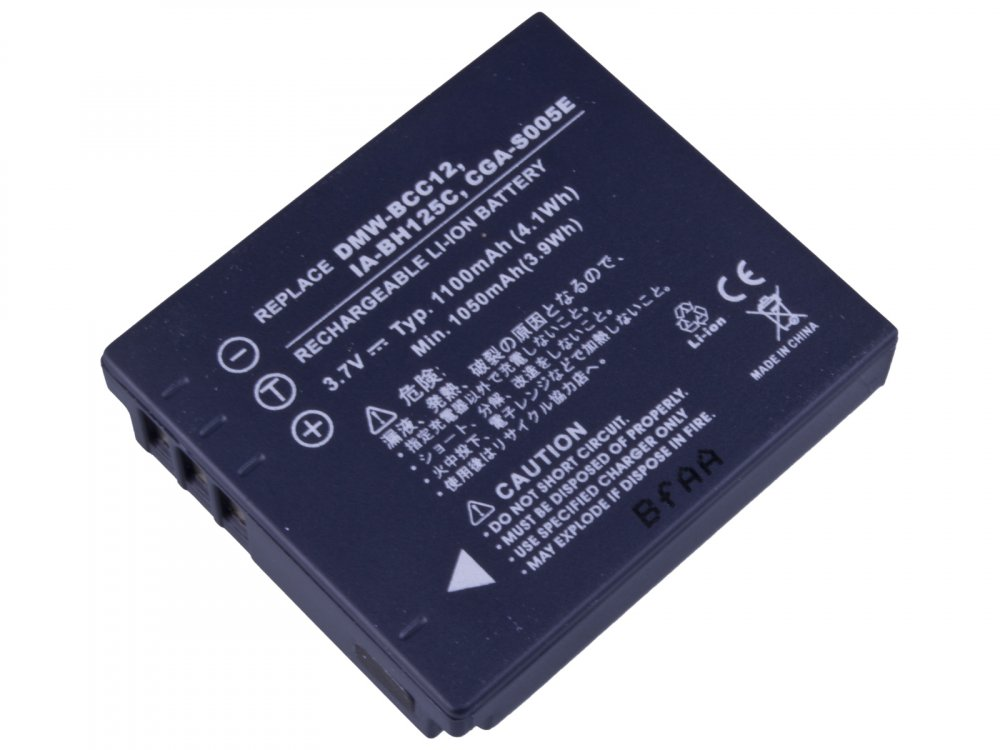 Baterie AVACOM Panasonic CGA-S005, Samsung IA-BH125C, Ricoh DB-60, Fujifilm NP-70 Li-Ion 3.7V 1100mA