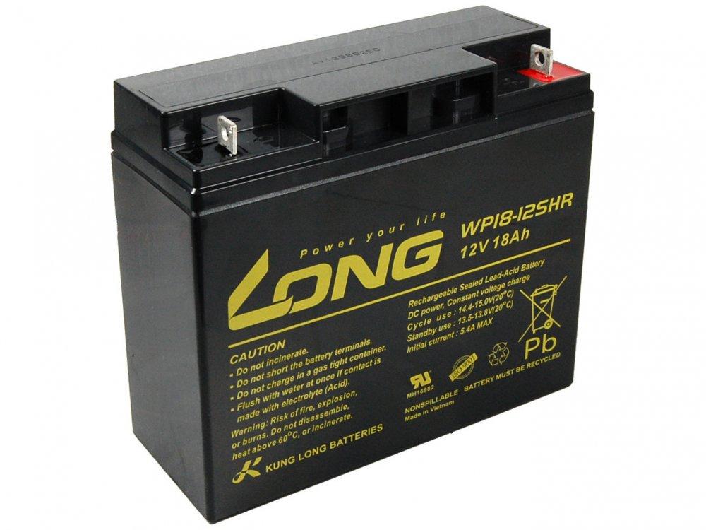Long 12V 18Ah olověný akumulátor High Rate F3