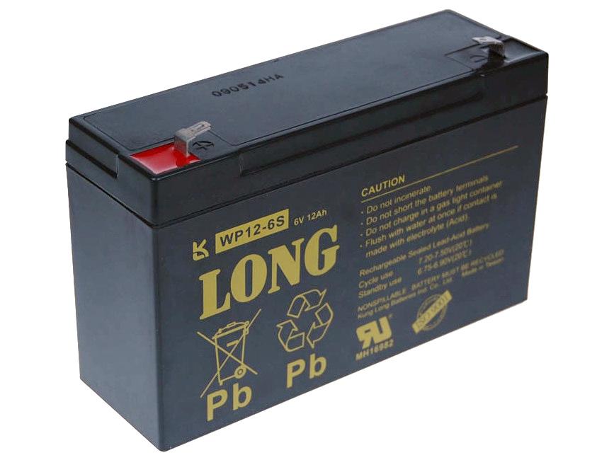 Long 6V 12Ah olověný akumulátor F1