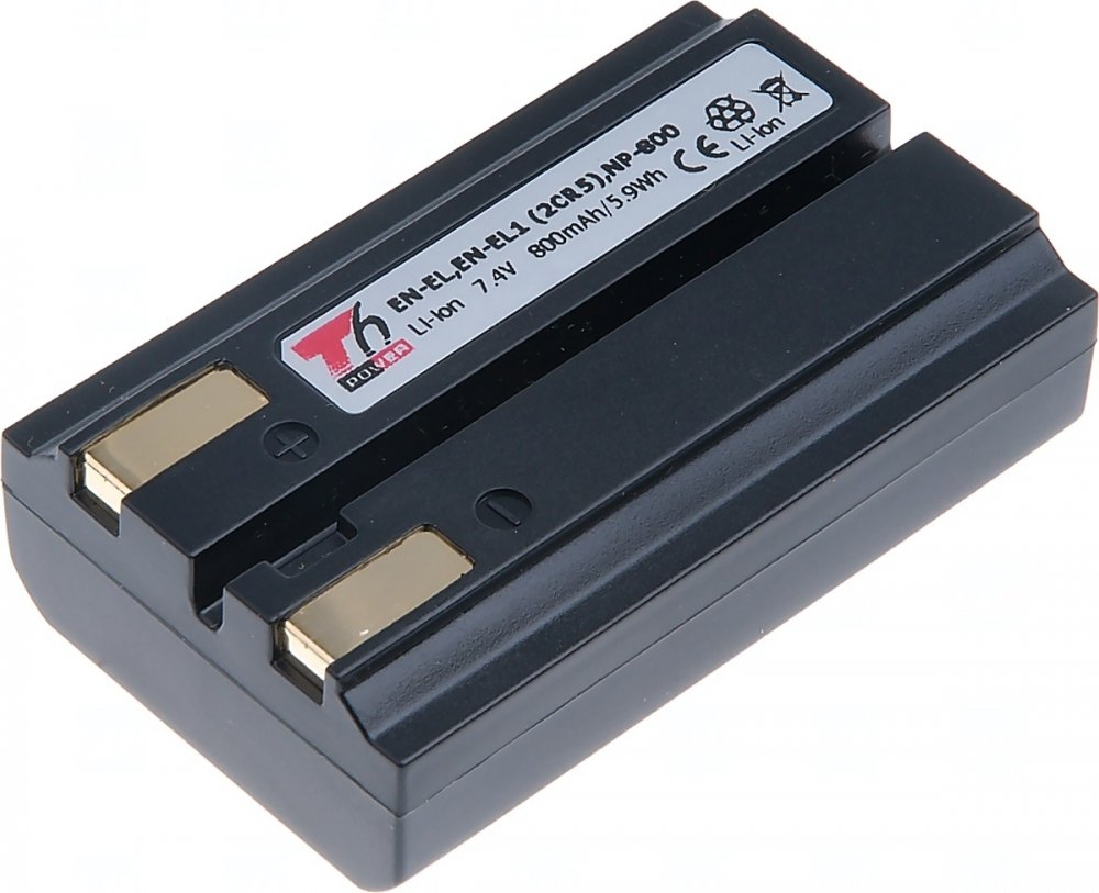 Baterie T6 power Nikon EN-EL, EN-EL1, KonicaMinolta NP-800, 800mAh, černá