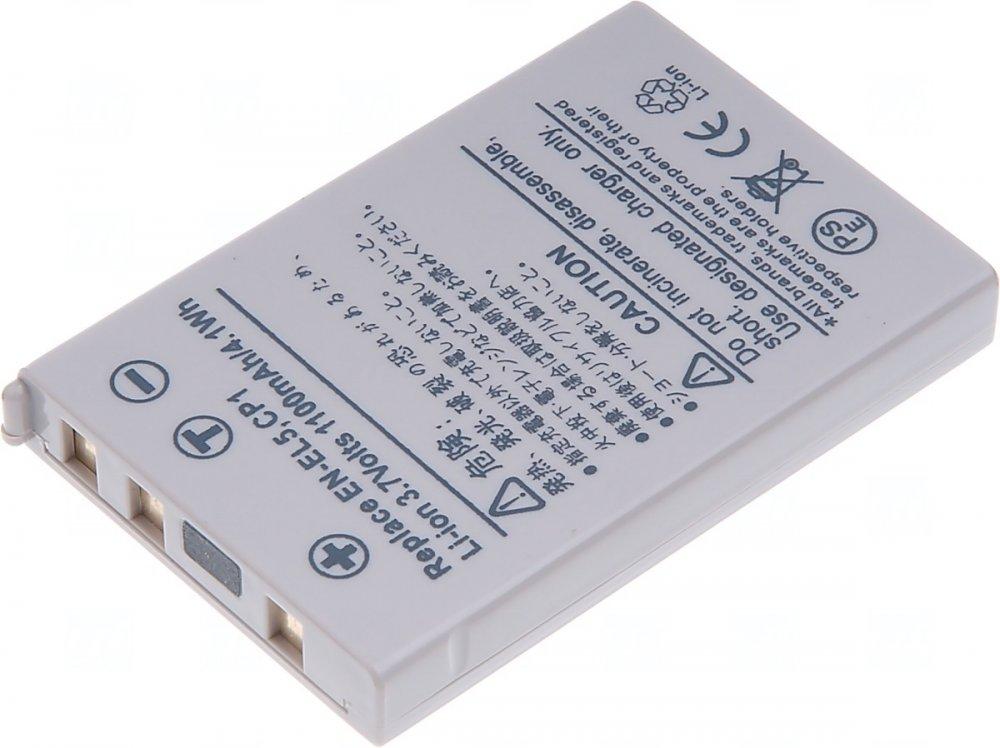 Baterie T6 power Nikon EN-EL5, CP1, 1100mAh, šedá