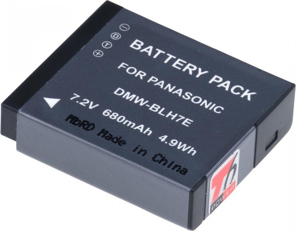 Baterie T6 power Panasonic DMW-BLH7, 680mAh, 4,9Wh, černá