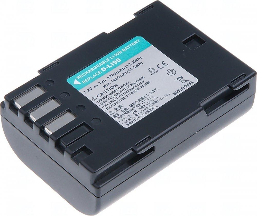 Baterie T6 power Pentax D-Li90, 1700mAh, černá