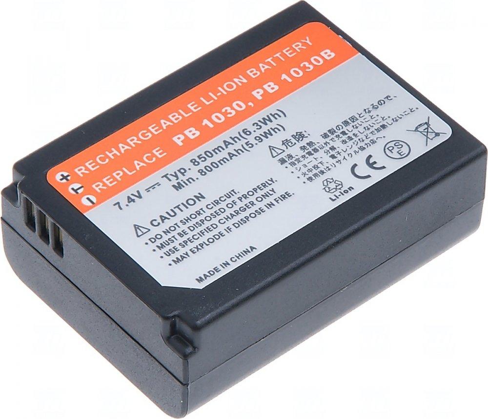 Baterie T6 power Samsung BP1030, 850mAh, černá