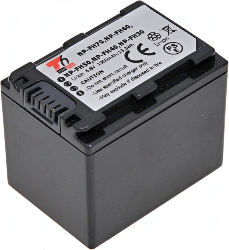 Baterie T6 power Sony NP-FH70, 1960mAh, šedá