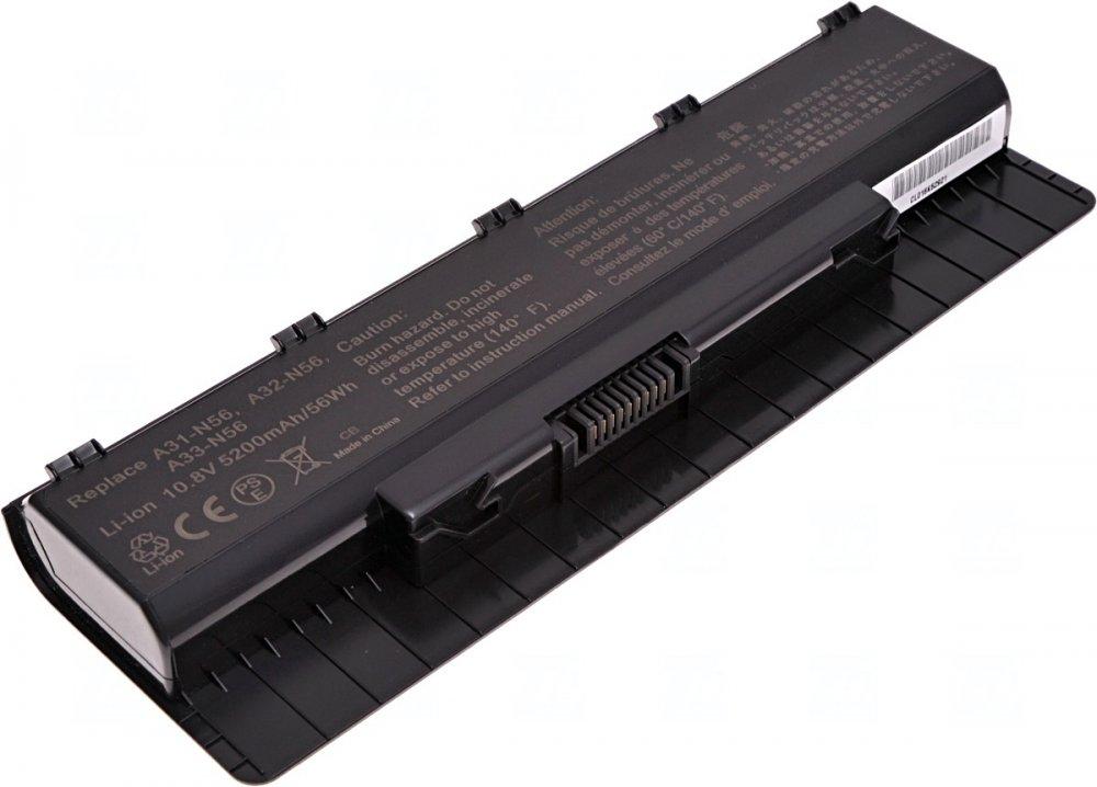 Baterie T6 power Asus N46, N56, N76, 5200mAh, 56Wh, 6cell
