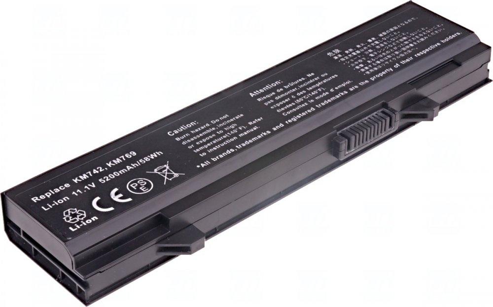 Baterie T6 power Dell Latitude E5400, E5410, E5500, E5510, 5200mAh, 58Wh, 6cell