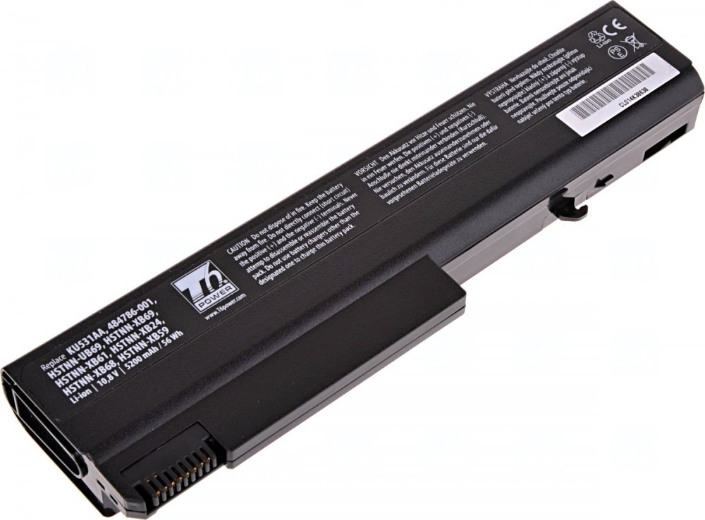 Baterie T6 power HP 6530b, 6730b, 6930b, ProBook 6440b, 6450b, 6540b, 6550b, 5200mAh, 56Wh, 6cell