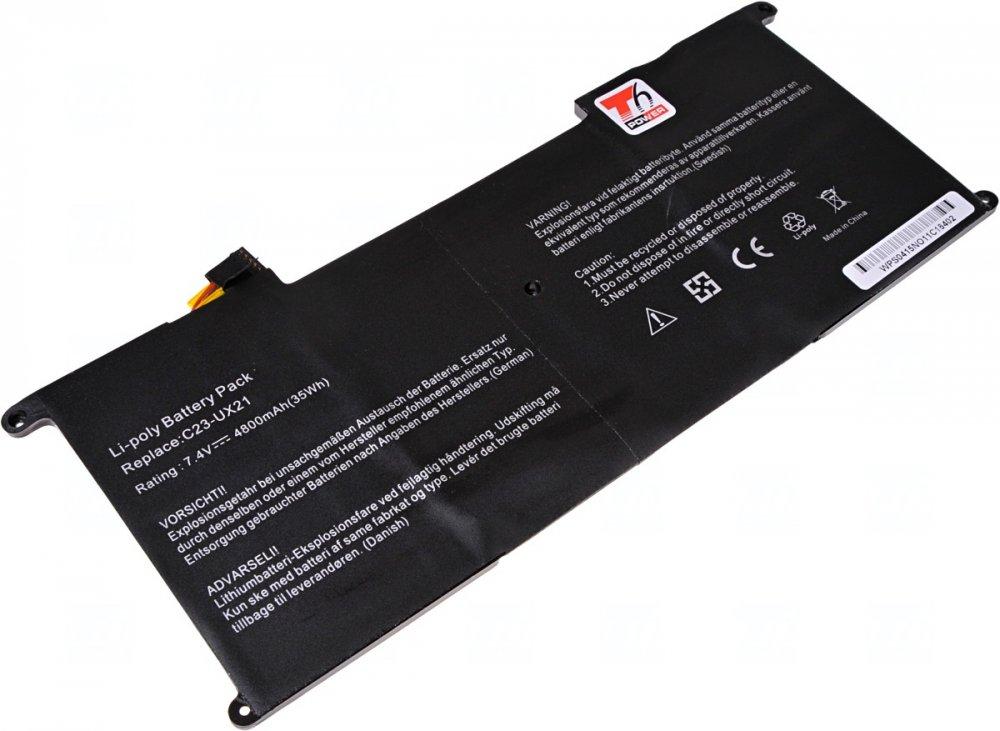 Baterie T6 power Asus Zenbook UX21A, UX21E, Li-pol, 2cell, 4800mAh