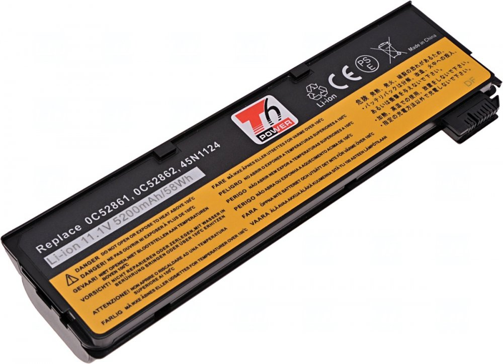 Baterie T6 power Lenovo ThinkPad T440s, T450s, T550, L450, T440, X240, 68+, 5200mAh, 58Wh, 6cell