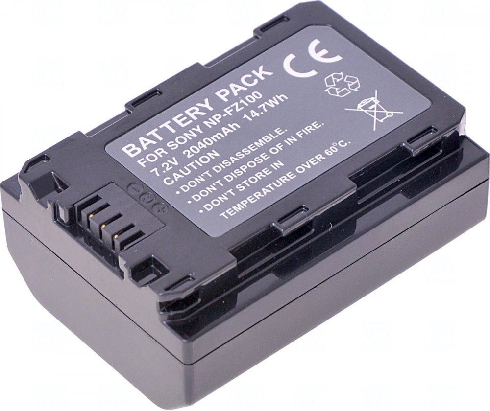 Baterie T6 power Sony NP-FZ100, 2040mAh, 14,7Wh, černá
