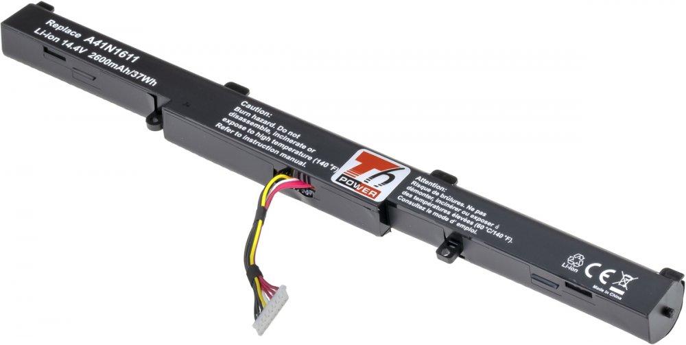 Baterie T6 power Asus GL752, N552, N752, FX553, G553, GL553, 2600mAh, 37Wh, 4cell, Li-ion