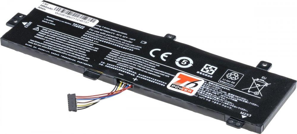Baterie T6 power Lenovo IdeaPad 310-15IKB, 310-15ABR, 510-15IKB, 3950mAh, 30Wh, 2cell, Li-pol