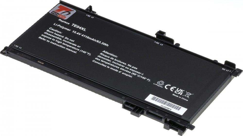 Baterie T6 power HP Pavilion 15-bc200, 15-dp0000, Omen 15-ax200, 4100mAh, 63Wh, 4cell, Li-pol