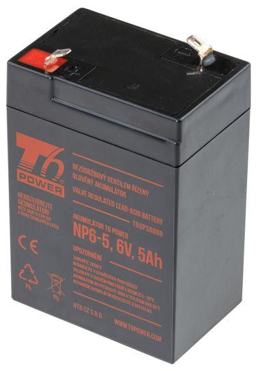 Akumulátor T6 Power NP6-5, 6V, 5Ah