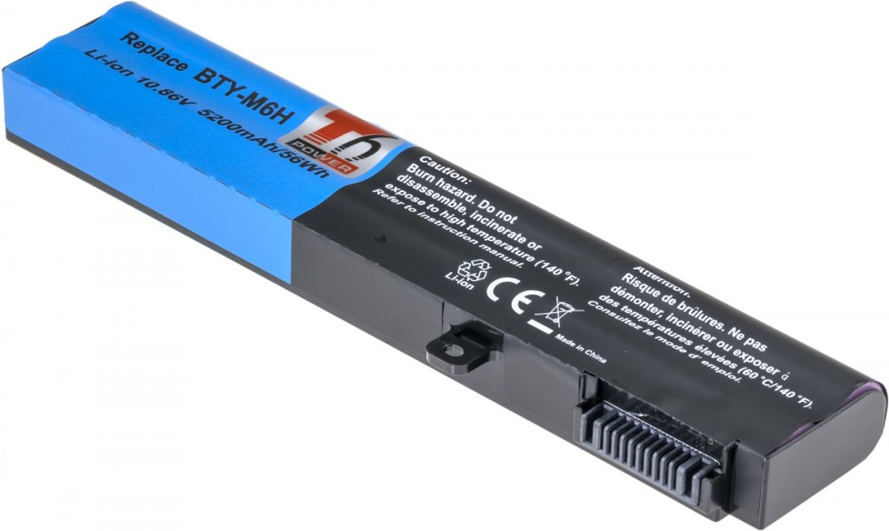 Baterie T6 power MSI BTY-M6H, GE62, GE70, GE72, GL72, GL73, GP62, GP72, 5200mAh, 56Wh, 6cell