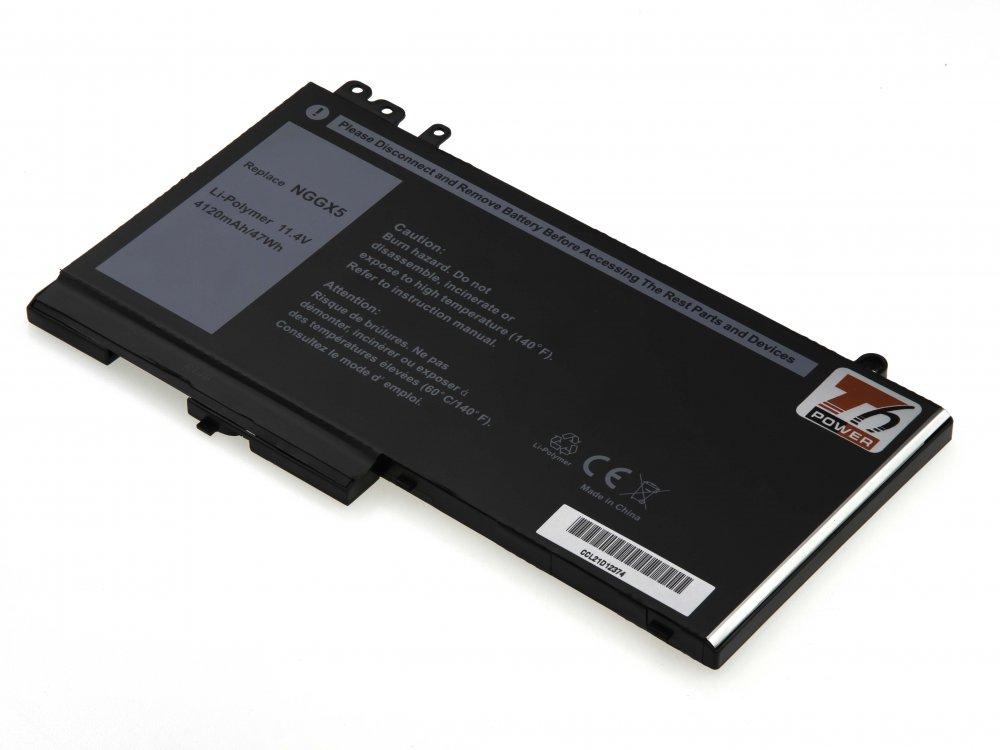 Baterie T6 power Dell Latitude E5270, E5470, 4120mAh, 47Wh, 3cell, Li-pol
