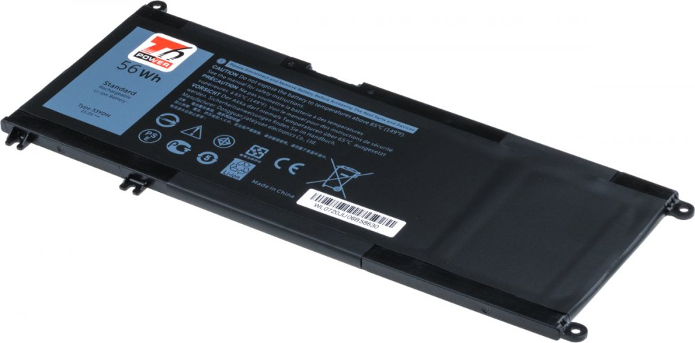 Baterie T6 power Dell Insprion 17 7778, 7779, 7577, Latitude 3380, 3680mAh, 56Wh, 4cell, Li-pol