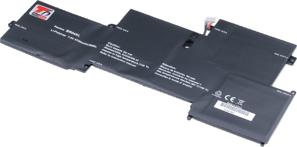 Baterie T6 power HP EliteBook Folio 1020 G1, 1030 G1, 4700mAh, 36Wh, 4cell, Li-pol